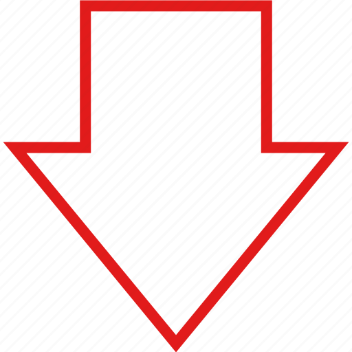 arrow, data, down, infographic, information icon