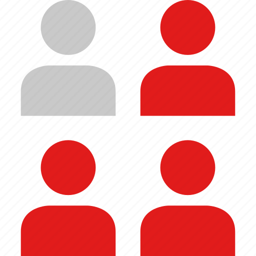 data, four, infographic, information, users icon