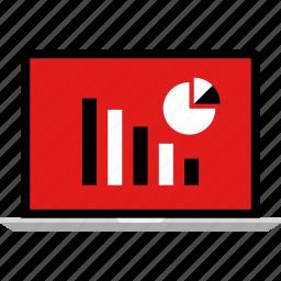 data, info, infographic, information, laptop icon