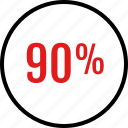 data, infographic, information, ninety, percent icon