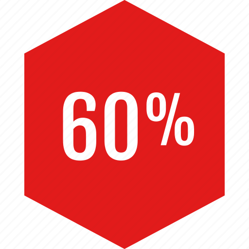 data, infographic, information, percent, sixty icon
