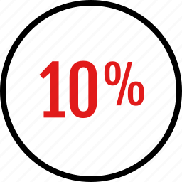 data, infographic, information, percent, ten icon