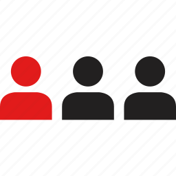 data, infographic, information, three icon
