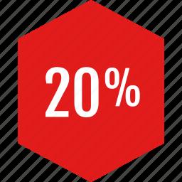 data, infographic, information, percent, twenty icon