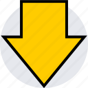 arrow, data, down, graphics, info icon