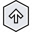 arrow, data, graphics, info, up icon