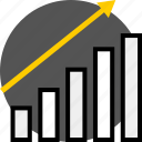 analytics, chart, gfx, graphic, information, up icon