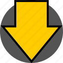 analytics, down, gfx, graphic, information icon