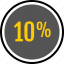analytics, gfx, graphic, information, percent, ten icon