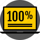 analytics, gfx, graphic, hundred, information, percent icon
