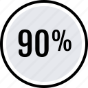 data, graphics, info, ninety, percent icon