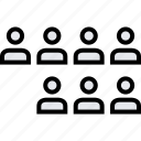 data, graphics, info, seven, users icon