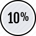 data, graphics, info, percent, ten icon