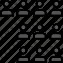 analytics, gfx, graphic, information, ten, users icon