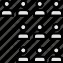 data, graphics, info, ten, users icon