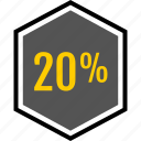 analytics, gfx, graphic, information, percent, twenty icon