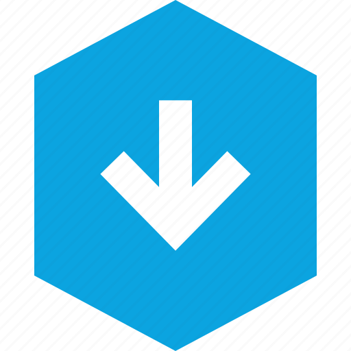 arrow, data, down, graphics, info, low icon