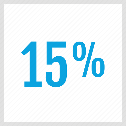 data, fifteen, graphics, info, percent icon