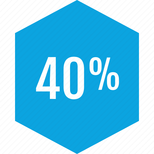 data, fourty, graphics, info, percent icon