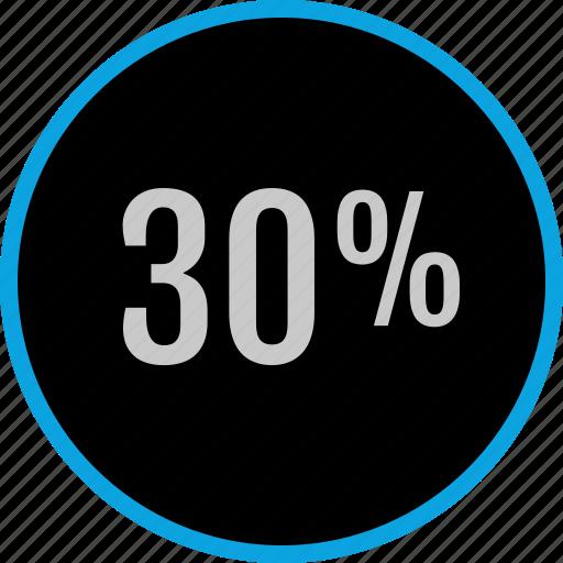 data, graphics, info, percent, thirty icon