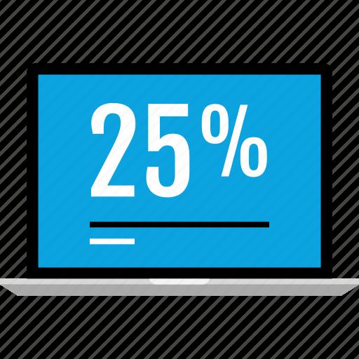 data, five, graphics, info, laptop, twenty icon