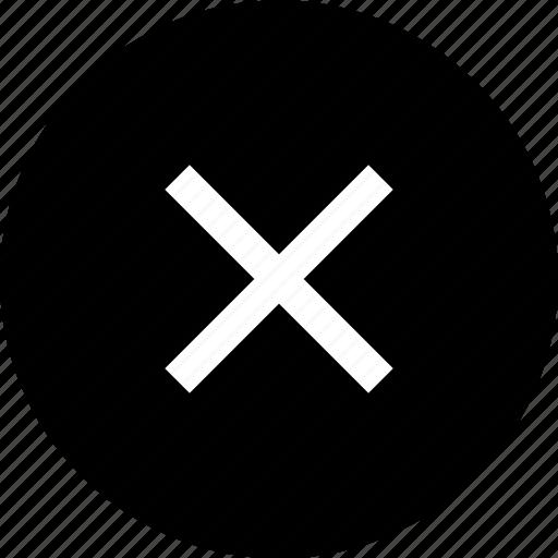 close, cross, denied icon