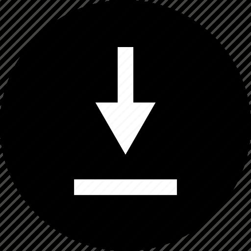 attachement, download, point icon