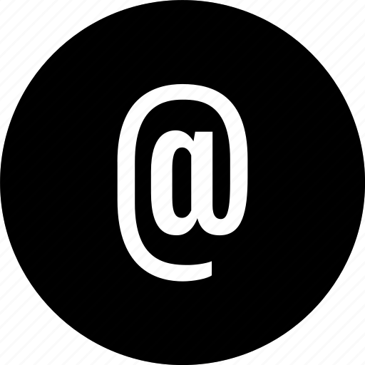at, email, message, sign icon