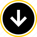 analytics, down, gfx, graphic, information, pointer icon