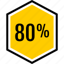 data, eighty, graphics, info, percent icon