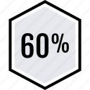 data, graphics, info, percent, sixty icon
