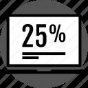 analytics, gfx, graphic, information, pc, twenty icon