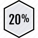 data, graphics, info, percent, twenty icon