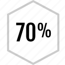 data, graphics, info, percent, seventy icon