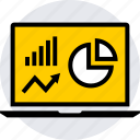 analytics, data, graphics, info icon