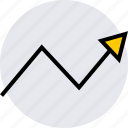 analytics, arrow, data, graphics, info icon
