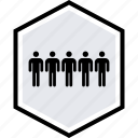 data, five, graphics, info, users icon