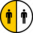 analytics, gfx, graphic, half, information, two icon