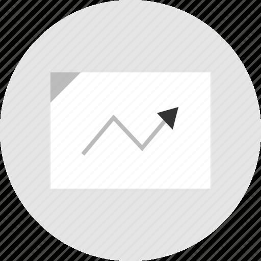analytics, arrow icon