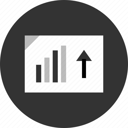 analytics, arrow, data, up icon