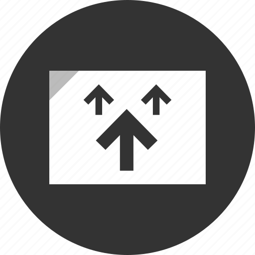 analytics, arrows, up icon