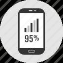 analytics, cell, phone icon