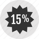 analytics, fiftteen, tag icon