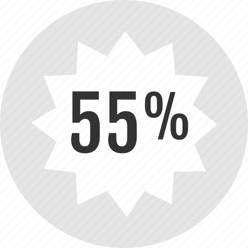 analytics, fifty, five icon