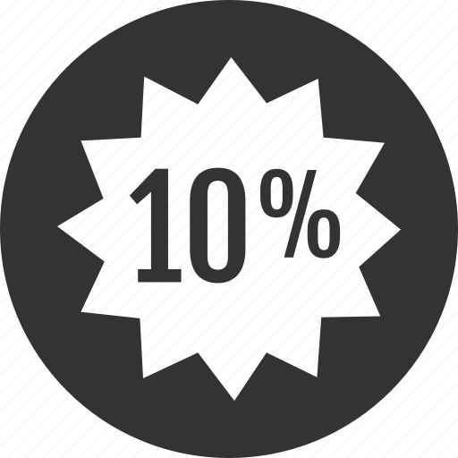 infographic, percent, ten icon