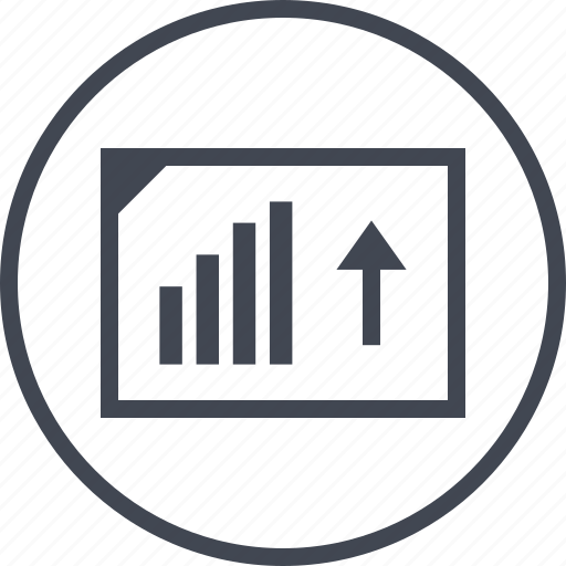 analytics, arrow, seo, up, web icon