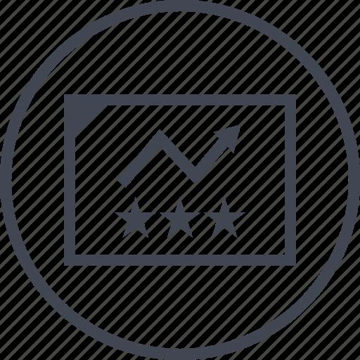 analytics, data, seo, stars, web icon