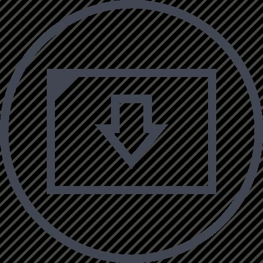 arrow, down, low, pointer, sales icon