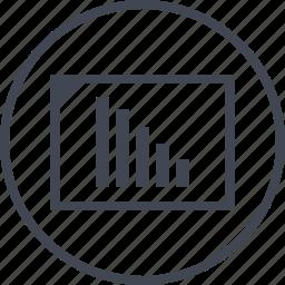 bars, data, graph, low, sales icon
