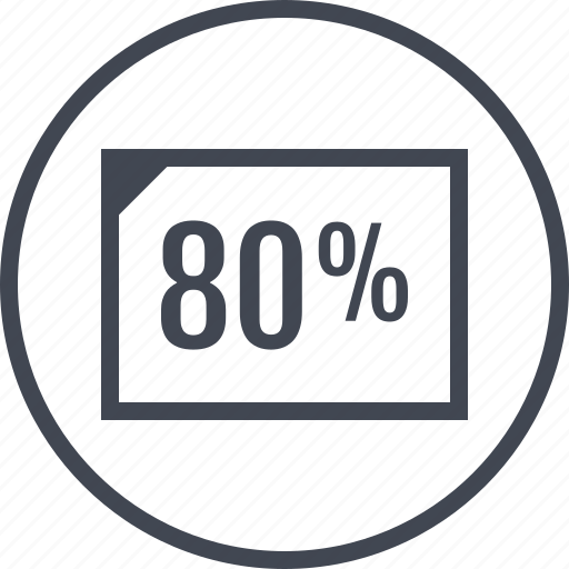 eighty, page, percent, percentage, rate icon